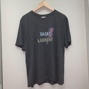Saint Laurent Paris Bolt Tee Shirt SLP